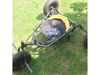 Flexifoil Style Kite Surfing 3 Wheel Buggy - Fully Adjustable Design - Easy To Disassemble