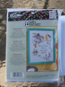 Mother Goose Birth Record counted cross stitch  kit