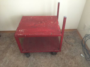 Red Cart w/ Casters