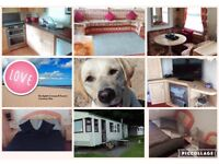 Dog Friendly Caravan Hire Cresswell Northumberland Beautiful location in Woodland & 5 mins to beach