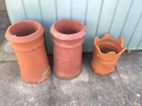 Victorian chimney pots for plants