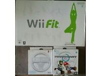 Nintendo WiiFit & 2 Wii Wheels