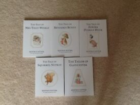 Five Beatrix Potter Books,as new