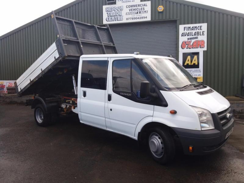 Ford Transit 2.4TDCi ( 100PS ) Double/crew cab tipper 108kmiles
