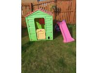 Playhouse and little tikes chute slide £20
