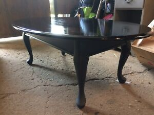 Black and charcoal Coffee Table and End  Table