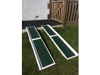 Pair of foldable mobility ramps