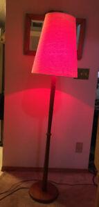TEAKWOOD TALL FLOOR LAMP/ RETRO LOOK