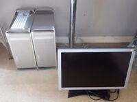 Apple G5 desktop and monitors