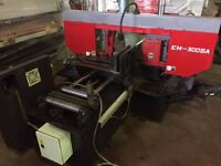MODEL CH300-SA, DOUBLE COLUMN, AUTOMATIC HORIZONTAL MITRE CUTTING BANDSAW.