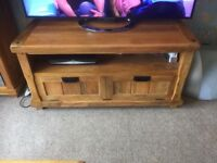 Solid Mango Wood Large TV Unit