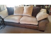 large sofa ,brown/biscuit colour,good condition