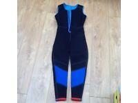 Two piece wet suit