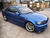 BMW E46 330ci Clubsort, Estoril blue, 6 speed manual, FSH