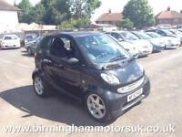 2002 (52) Smart City Coupe SMART and PULSE AUTOMATIC 2DR Coupe BLACK + LOW MILES