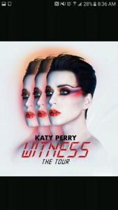 """2× KATY PERRY  """"THE PIT""""  Witness Concert Tour Tickets"""