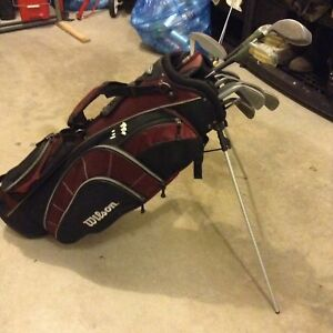 Wilson golf bag with full set of golf clubs