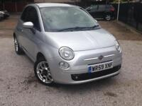 Fiat 500 1.4 Sports Silver Leather Seats