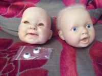reborn dolls heads and wig