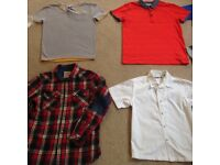 Boys tops, ranging from age 8 to 13. Some designer