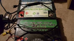 2 12v 75ah Lithium Batteries