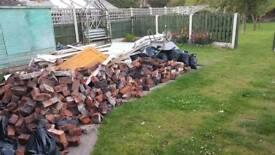 Bricks and loose rubble free