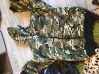 Brand new camouflage fleece lined jacket xxxl