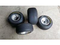 Honda Cadet Kart wheels and tyres