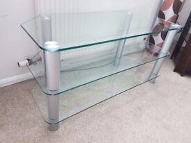 TV / HI-FI glass, corner stand