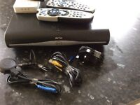 Sky + HD box & 2 remotes , 2 x wireless booster & wireless connecter