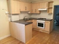 Fitted kitchen with gas hob