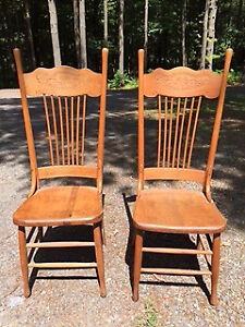 Two Beautiful Pressed Back Chairs