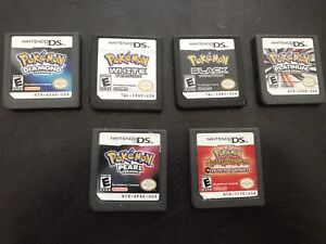 Six Nintendo Ds Pokemon games for $30 each game