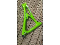 Green bike frame.