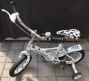 Avico Snow Cat bicycle with training wheels