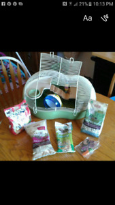 Hamster starter kit cage and food