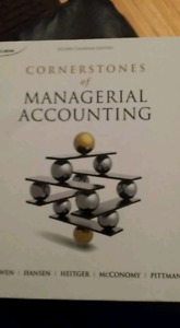 Cornerstones of managerial accounting $40