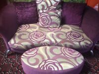 Settee and foot stool