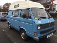 VW T25 Camper van, new MoT, new battery, great condition inside and out, over £1000 spent.