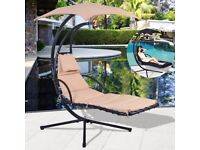 **FREE UK DELIVERY** Garden Swing Hammock Sun Lounger with Canopy- BRAND NEW!