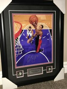 DeMar DeRozan Framed & Signed 11x14 with COA