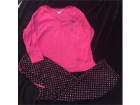 Ladies DKNY micro fleece pyjamas. Size XL. £20
