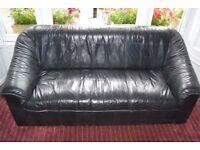 Leather Ikea two seat sofa
