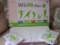 WiiFit Plus Balance Board DVD and instruction book.