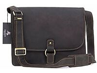 Visconti Leather - Hand Wax - briefcase messenger bag Laptop/iPad RRP £135