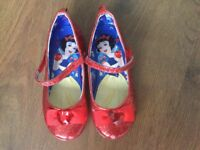 Girls Disney Snow White glittery red dress up shoes size 12