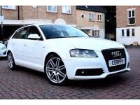 AUDI A3 2.0 TDI S LINE 5 DR START/STOP HATCHBACK FSH HPI CLEAR 2 KEYS EXCELLENT CONDITION