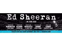 Ed Sheeran Tickets * 4 Standing: 16th June 2017 Wembley Stadium