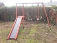 Wooden Swing, Slide & Seesaw £120