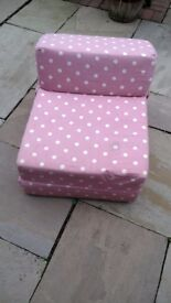 Pink Fold Out Chair Bed